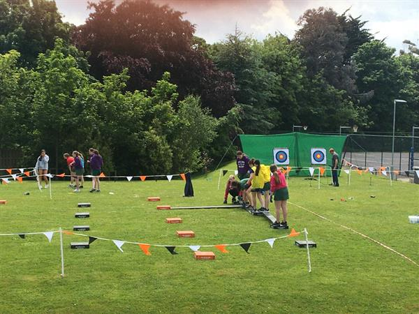 Fun at the 1st and 2nd year Sports Camp